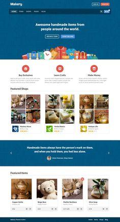 Makery – Marketplace by themex #ux #commerce #design #marketplace #ui #e #web