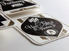 """Esquire Magazine   \""""The Best Bars in America\"""" Coasters on Behance"""