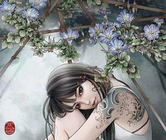 Tattoo Illustrations by Zhang Xiaobai | Cuded #tattoo #zhang #illustrations #xiaobai