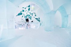 Artistic ice bar #hotel #ice #art
