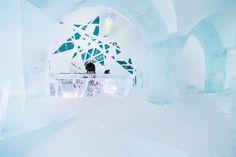 Artistic ice bar
