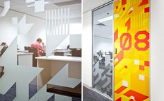 AICT Office. Designed by The Globe @enviromeant.com #graphics #wall
