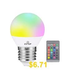 EXUP #RGB #E27 #5W #270 #Degree #Remote #Control #LED #Spot #Bulb #- #RGB