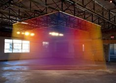 Rainbow Thread Installations #thread #color #art #installation
