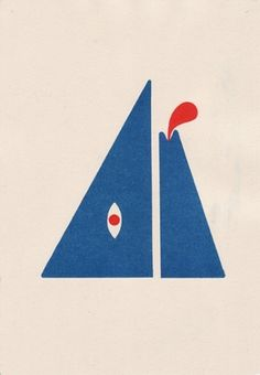 Penny Klein #mountain #risograph #tongue #blue #man