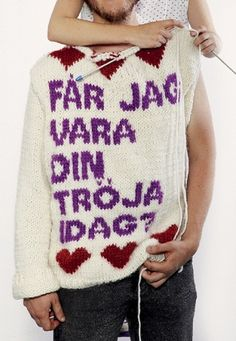 Malmöfestival 2010 Shirt | Flickr - Photo Sharing! #snask #knitted #knit #typography