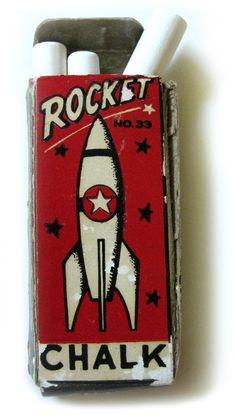 ROCKET CHALK #packaging #illustration #rocket #chalk
