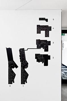 Poziom 511 | Jarek Kowalczyk – Komunikacja Wizualna #design #map #wayfinding #minimal #signage