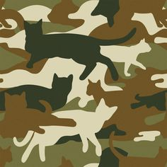 http://blog.bytourists.com/post/41262017372/shop meow #cat #pattern #cats #army #camo