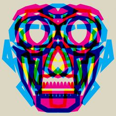 #graphicdesign #skull #colors