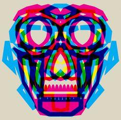 #graphicdesign #skull #colors