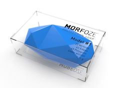 MORFOZE Polyhedron Soap - TheDieline.com - Package Design Blog #glass #color #soap #angle #angular #polyhedron #plexiglass