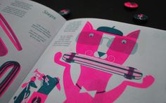 Grilled Cheese Magazine Issue 3 #illustration #print #cat #magazine