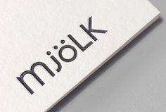 Mjölk by Tung #logo #logotype #embossed