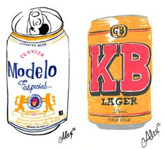 Beer Can Portraiture Alexander Barrett #illustration