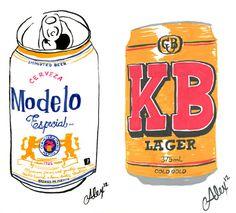 Beer Can Portraiture Alexander Barrett #illustration