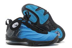 nike basketball men shoes air total foamposite max with current blue and black #shoes
