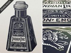 Indian Print #text #vintage