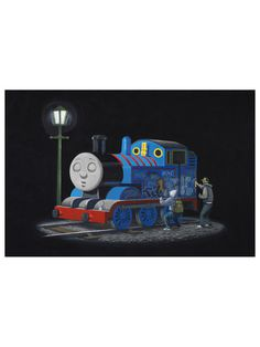 Thomas The Tank Engine Gilt Home #print #banksy #tank #the #thomas #engine