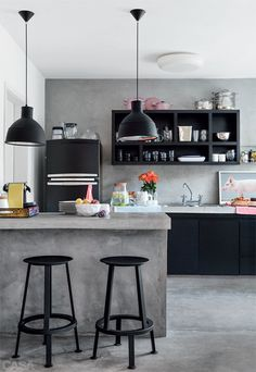The Design Chaser: Black Kitchen Inspiration #interior design #decoration #kitchen #decor #deco