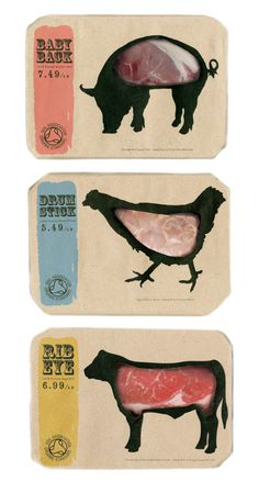 Butcher's by Kei Meguro at Coroflot.com #meat #packaging