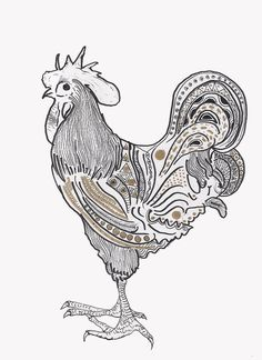 CROLLAN #whiite #coq #colours #black #gold #chicken #crollantumblrcom