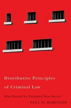 Distributive Principles of Criminal Law #cover #editorial #book
