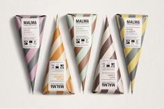 Malmö Chokladfabrik Bars & Cones packaging by Pond Design » Retail Design Blog