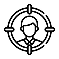 See more icon inspiration related to target, targeting, targets, user, marketing, business, person and people on Flaticon.