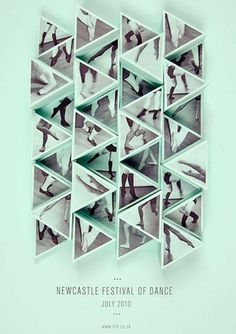 FFFFOUND! | design work life » Amy Rodchester: Newcastle Festival of Dance Posters #pattern #shoes #festival #dance #poster #triangles #feet