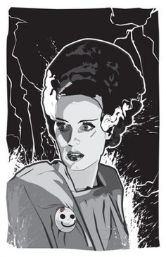 Bride of Frankenstein Art Print by Matt Fontaine | Society6 #vector #girl #frankenstein #of #mgm #matt #digital #fontaine #bride #monster
