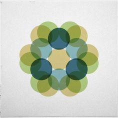 #363 Flourishing – A new minimal geometric composition each day