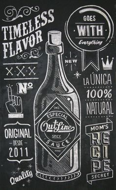 Outline Sauce on Behance #blackboard #lettering #chalk