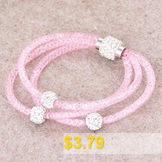 Charming #Rhinestone #Beads #Layered #Women's #Bracelet #- #RANDOM #COLOR