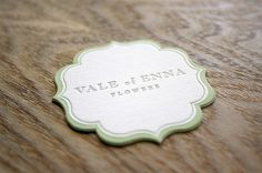 Vale of Enna Flowers business card #design #graphic #identity