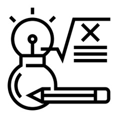 See more icon inspiration related to formula, idea, Theory, knowledge, square root, education, mathematics and pencil on Flaticon.