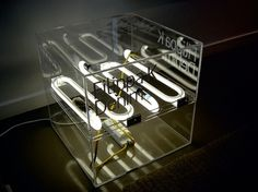 Denim | Stockholm Designlab #light #cube #neon