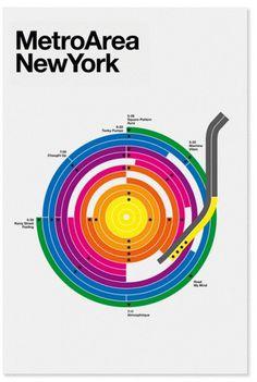 Metro Area #minimal #metro #poster #york #new