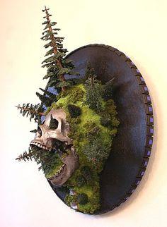 Jud Turner Artwork | Best Bookmarks #sculpture #jud #skull #turner #trees