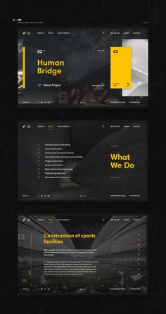 EVS Web design #web #black #yellow