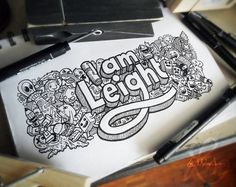 Creative Doodle Art Inspirations by Lei Melandres #doodle art # drawing art #lettering