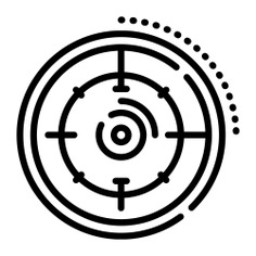 See more icon inspiration related to target, aim, sniper, business and finance, sports and competition, shapes and symbols, seo and web, edit tools, objective, shooting and weapons on Flaticon.