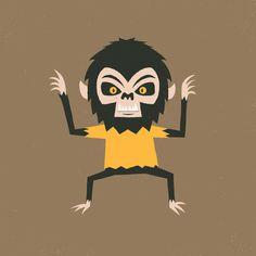 Werewolf #illustration #drawing #character #halloween #monster #werewolf #vector