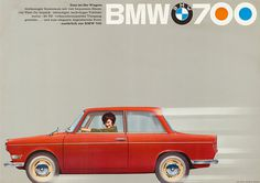 Vintage BMW Poster #red #bmw #simple #cars #vintage
