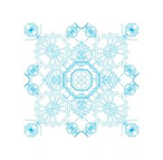Vector Drawing II on the Behance Network #maze #pattern #print #puzzle #blue