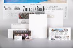 Holzer Kobler Architekturen : Studio Laucke Siebein #print #design #graphic #identity