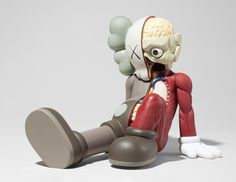 Paddle8: Resting Place Companion (Brown) - KAWS #companion #place #vinyl #kaws #art #half #toy #resting