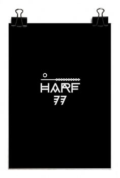 HARF 77 on the Behance Network #font #77 #poster #logo #harf #typography