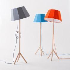 cool geometric lamps #wood