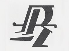 Dribbble - Rrrrrr by Ryan Vancil #vector #texture #letter #r #typography